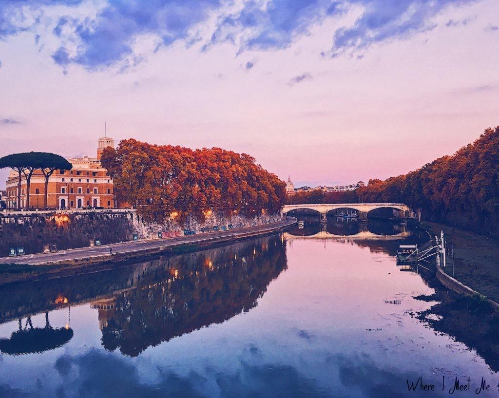 Блог Ксении Курилкиной whereimeetme.com | 5 секретных мест для лучших фото в Риме. | Набережная Тибра у Castel Sant'Angelo